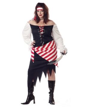 Ruby the Pirate Beauty Adult plus size Costume