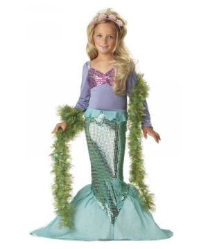 Sparkling Little Mermaid Girls Costume