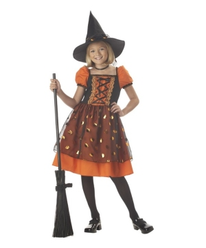 Pretty Pumpkin Witch Kids Costume