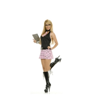 Black/pink School Girl Adult Costume