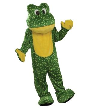 Plush Frog Mascot Adult Costume