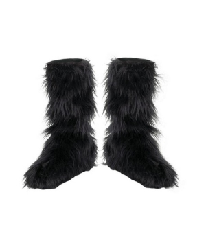 Furry Boot Covers Costume Accessory
