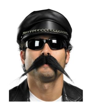 Mustache Biker Costume Accessory