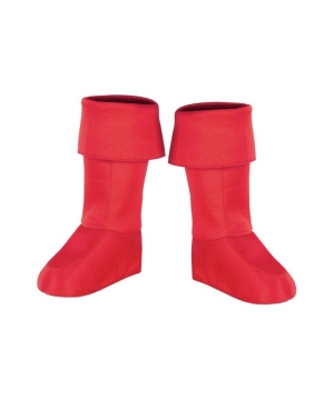 Captain America Kids Boot Covers - Costume Accessory