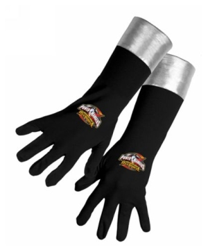 Black Power Ranger Gloves Child