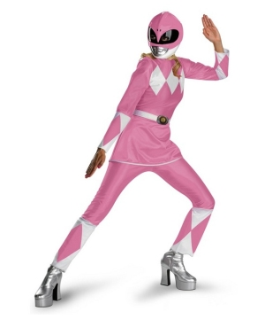 Pink Power Ranger Costume - Adult Costume deluxe