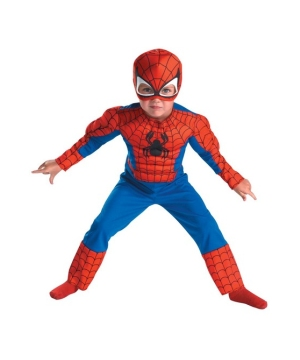 Spiderman Muscle Kids Costume
