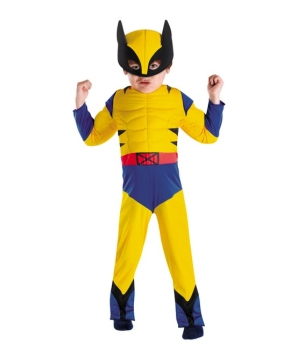 Wolverine Muscle Kids Costume