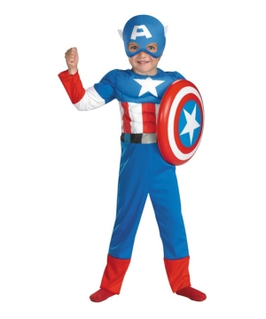 Captain America Muscle Toddler Boys Costume