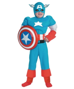 Captain America Muscle Teen/ Boys Costume