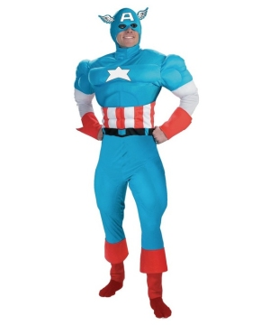 Captain America Muscle Adult Costume deluxe