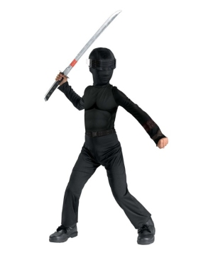 Gi Joe Snake Eyes Kids Costume