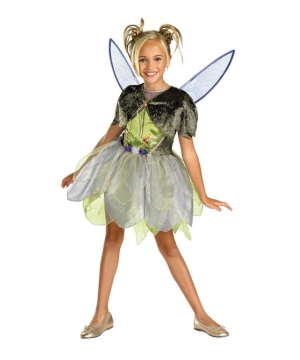 Fairy Tinkerbell Disney Girl Costume deluxe