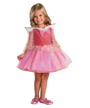 Aurora Disney Ballerina Girls Costume