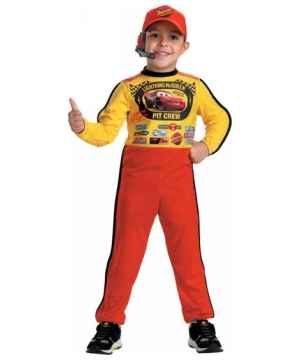 Pit Crew Lightening Mcqueen Kids Costume