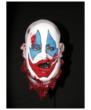 Crazy Clown Head Prop Halloween Decoration