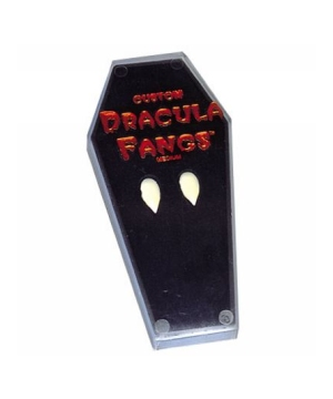 Vampire Fangs in Coffin