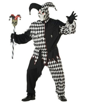 Evil Jester Adult plus size Costume