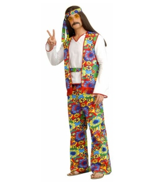 Hippie Dippie Man Costume - Adult Costume