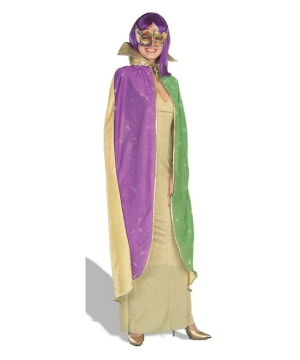 Mardi Gras Sparkle Adult Cape