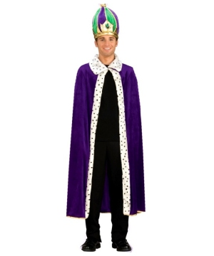 King Robe and Crown Men Costume