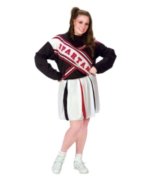 Cheerleader Spartan Adult plus size Costume