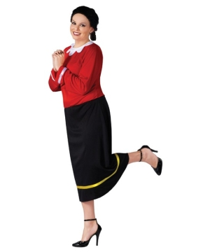 Olive Oyl plus size Adult Costume
