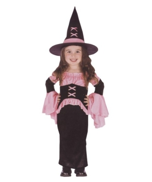 Pretty Pink Witch Kids Costume