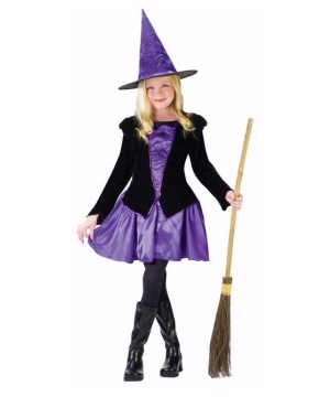 Elegant Miss Witch Kids Costume