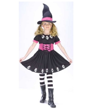 Skull Witch Kids Costume