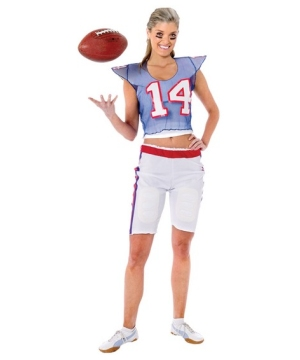 Football Player Girl Costume - Adult Costume