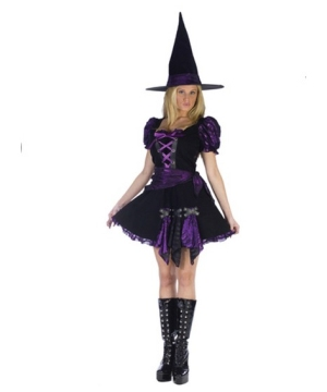 Purple Punk Witch Adult Costume