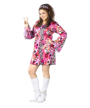 Feelin Groovy Costume - Adult plus size