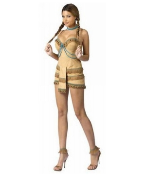Sexy Pocahontas Indian Costume - Halloween Costume