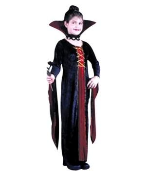 Victorian Vamp Velvet Costume - Kids Costume