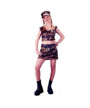 Female Soldier Teen Costume