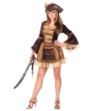 Sexy Sassy Victorian Pirate Women Costume