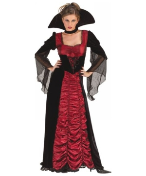 Taffeta Coffin Vampiress Women Costume