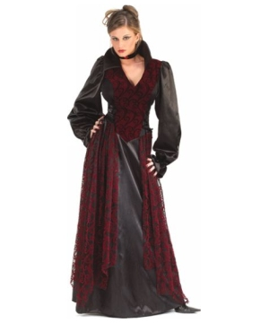 Flocked Vampiress Adult Costume