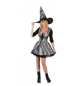 Sexy Rose Gothic Witch Women Costume