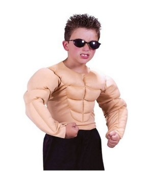 Muscle Man Shirt Child Costume