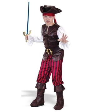 High Seas Buccaneer Pirate Boys Costume