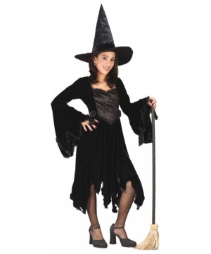 Black Velvet Witch Kids Costume