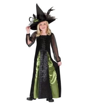 Goth Maiden Witch Kids Costume