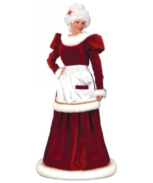 Santa Mrs Velvet Adult Costume