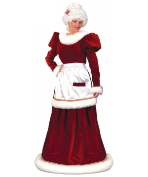 Mrs Santa Suit Velvet Adult Costume plus size