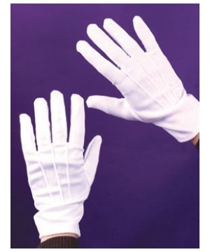 Gloves Theatrical W/snap White