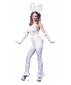 White Sexy Bunny Adult Costume