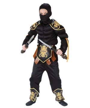 Ninja Warrior Muscle Kids Costume