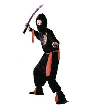 Black Ninja Boys Costume